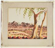 Sale 8339A - Lot 510 - Walter Ebatarinja (1915 - 1968) - Central Australian Landscape 35.5 x 46cm
