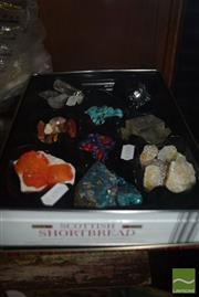 Sale 8509 - Lot 2217 - Tray Mixed Gems & Geology Crystals