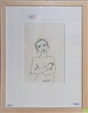 Sale 8595 - Lot 2031 - Catherine Herse - Worn Face 20 x 14cm