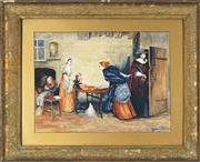 Sale 8759 - Lot 2030A - William Payne - The Visit 43 x 56.5cm