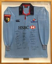 Sale 8863S - Lot 23 - 2003 NSW Waratahs Signed Jersey, in frame
