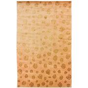 Sale 8890C - Lot 28 - Nepalese Repeating Swirls Carpet in Tonal Gold, 250x400cm, Tibetan Highland Wool & Silk ,