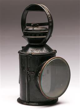 Sale 9131 - Lot 75 - Antique Train Signal Lamp (H 30cm)