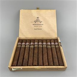 Sale 9250W - Lot 702 - Montecristo Grand Edmundo Cuban Cigars - box of 10 cigars, stamped December 2010