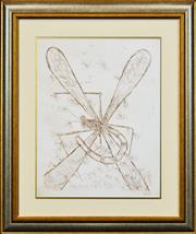Sale 8330A - Lot 123 - Kevin Charles (Pro) Hart (1928 - 2006) - Dragonfly & Ants 48 x 38cm