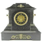 Sale 8332C - Lot 9 - French Black Slate Mantle Clock