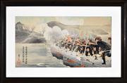 Sale 8347A - Lot 22 - Getsuzo - Crossing a River, 1904 33.5 x 69cm