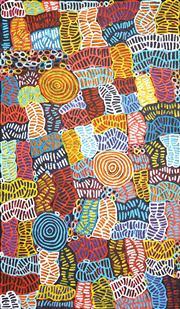 Sale 8583 - Lot 541 - Betty Mbitjana (1955 - ) - Bush Melon - Awelye 166 x 98cm