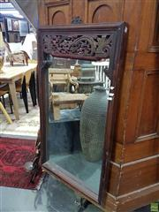 Sale 8601 - Lot 1403 - Chinese Timber Framed Mirror (100 x 58cm)