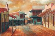 Sale 8764 - Lot 562 - Jean Isherwood (1911 - 2006) - Main Street, Gulgong 50 x 75cm