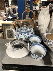 Sale 8819 - Lot 2463 - 3 Oriental Tea Pots & Cups