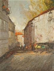 Sale 8881 - Lot 508 - Colin Parker (1941 - ) - Street Market, Trieste, Northern Italy 49 x 38 cm