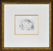 Sale 8427 - Lot 562 - Pablo Picasso (1881 - 1973) - Nude in bed. Procuress & Gentleman, 1968 28 x 35cm