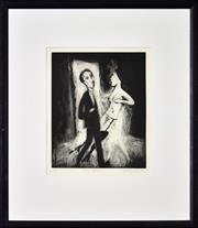 Sale 8401 - Lot 597 - Garry Shead (1942 - ) - Tango Lesson 27.5 x 22.5cm