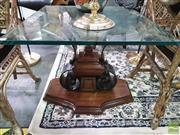 Sale 8424 - Lot 1028 - Glass Top Coffee Table