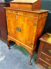 Sale 8648 - Lot 1009 - Raised Carved Timber Two Door Cabinet on Ball & Claw Feet