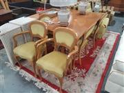 Sale 8676 - Lot 1382 - French Style Seven Piece Dining Setting