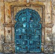 Sale 8722A - Lot 5094 - Stanley Perl (1942 - ) - Doors of India (No. 1) 51 x 51cm