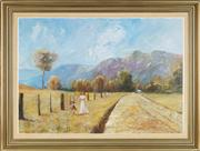 Sale 8819 - Lot 2024 - Craig Taylor (1952 - ) - Strolling through Kangaroo Valley, 1979 60 x 95cm