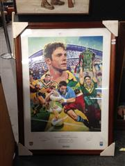 Sale 8767 - Lot 2080 - Framed & Signed Brad Fittler Poster (Edition 338/500)