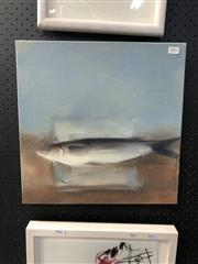 Sale 8836 - Lot 2002 - Helen Halliday - Stunned Mullet, acrylic on canvas, 40 x 40cm, signed lower right