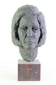 Sale 8989 - Lot 46 - Ceramic Head Sculpture on Stand (H:44cm)
