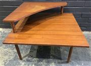 Sale 9002 - Lot 1039 - Teak Corner Coffee Table (h:58 x w:74 x d:74cm)