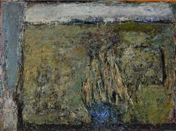 Sale 9141 - Lot 592 - Douglas Wright (1944 - ) La-La Falls, 1989 oil on linen 137 x 183 cm (frame: 138 x 185 x 5 cm) signed and dated lower right, titled ...