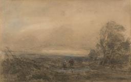 Sale 9245J - Lot 68 - Davi Cox (English) - Landscape with Figures