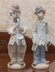 Sale 8375A - Lot 59 - Two Lladro figures of clowns. Height 23 cm