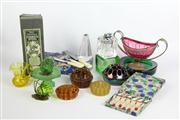 Sale 8461 - Lot 61 - Carnival Glass Frog with Other Glass & Boxed Cutlery Wares