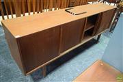 Sale 8550 - Lot 1036 - Quality Danish Teak Sideboard with Sliding Doors