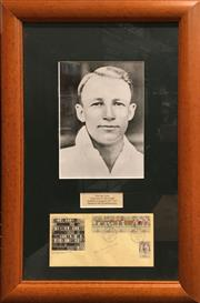 Sale 8863S - Lot 4 - First Day Cover for Don Bradman, signed & framed