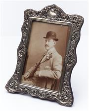 Sale 9080W - Lot 26 - A Victorian silver hallmarked photograph frame, Birmingham maker HM 20 x 14cm