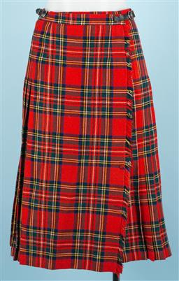 Sale 9092F - Lot 65 - A GOR-RAY RED TARTAN WOOLEN SKIRT; Size xs