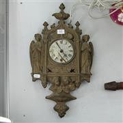 Sale 8351 - Lot 61 - Metal Angelic Wall Clock