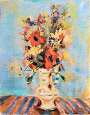 Sale 8394 - Lot 508 - Kohan György (1910 - 1966) - Still Life - Flowers 76.5 x 60.5cm