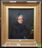 Sale 8478 - Lot 2008 - C19th School (XIX) - Portrait of a Widow 60 x 49cm