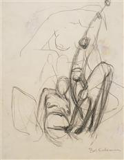 Sale 8604 - Lot 2004 - Bill Coleman (1922 - 1993) - Figural Sketch 28 x 22cm