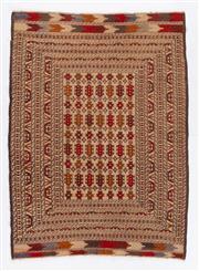 Sale 8715C - Lot 96 - A Persian Sumak, Hand Woven Wool, 202 X 135Cm