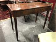 Sale 8792 - Lot 1078 - Late Georgian Mahogany Table, the apron & square tapering legs with inlaid band