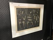 Sale 8779 - Lot 2013 - Artist Unknown - Three People, woodcut ed.14/30, 51 x 61cm, signed lower right