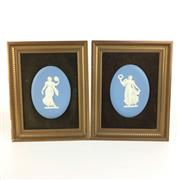 Sale 8795K - Lot 262 - A pair of Wedgwood oval plaques