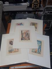 Sale 8833 - Lot 2083 - Collection of (5) Decorative Prints After Salvador Dali (mounted, unframed)