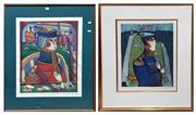 Sale 8868 - Lot 1021 - European School - A. Ubanof (?) - King of Hearts (?) & Navy Musician (x 2 works)