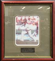 Sale 8863S - Lot 30 - Signed Allan Border Photograph to commemorate his all time leading run scorer title, in frame