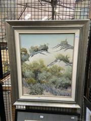 Sale 8914 - Lot 2031 - Artist Unknown - Sand Dunes, oil on board, 66 x 56 cm, signed