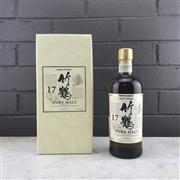 Sale 9079W - Lot 825 - Nikka Whisky Taketsuru 17YO Pure Malt Japanese Whisky - 43% ABV, 700ml in box