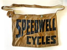 Sale 9142A - Lot 5020 - Speedwell Cycles canvas satchel, 25 x 34.5 cm -