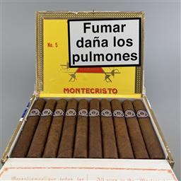Sale 9250W - Lot 706 - Montecristo No.5 Cuban Cigars - box 10 cigars, stamped April 2018